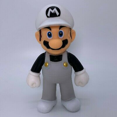 Super Mario Bros. Odyssey Mario in Grey Cloth Action Figure Toy Vinyl Doll 5""