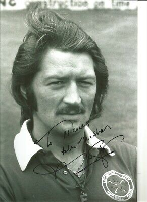 Frank Worthington Leicester City 12x8 in signed authentic football photo SS259E