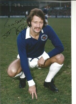 Frank Worthington Leicester City 12x8 in signed authentic football photo SS259H