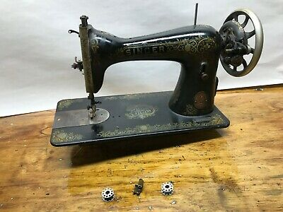 1919 Singer Treadle Sewing Machine Head Model 15 Fancy
