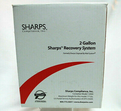 Sharps 12000 Recovery System 2-Gallon Needle Disposal Container S9276