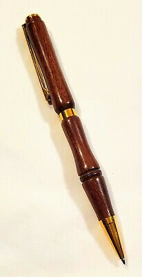 Ballpoint Pen, Hand-Turned, Chechen Wood (native to Central America)