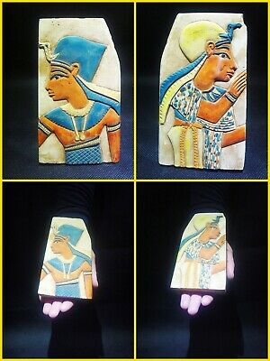 EGYPTIAN ANTIQUE ANTIQUITIES Two Different Sides Drawings Stela 1549-1294 BC