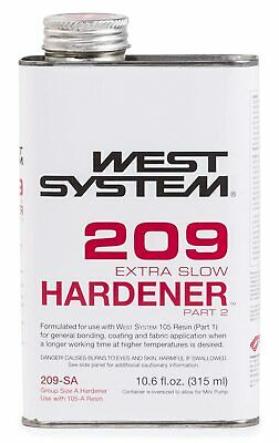 West Systems 209 Extra Slow Hardener Boat Marine .66 Pint Clear Solid 10.6oz