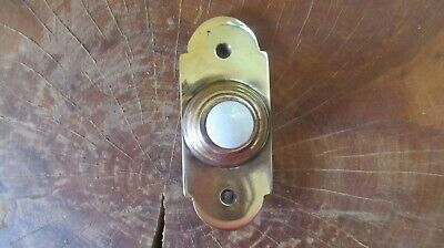 Vintage Brass & China Electric Door Bell Push