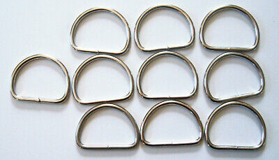 """Leathercraft DR-30L 10 Very Heavy Duty 1 1//2/"""" Nickel Welded D-Rings Bags"""