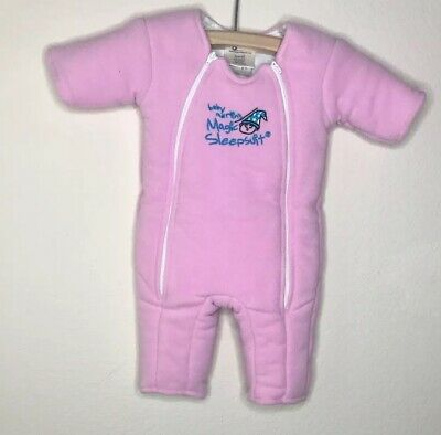 Baby Merlin's Pink Microfleece Magic Sleepsuit Small 3-6 Months Retail $40
