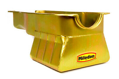Milodon 30926 Steel Gold Zinc Plated Street and Strip Oil Pan for Ford 351W