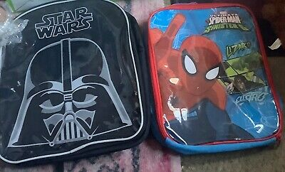 2 Boys Backpacks Star Wars & Spider-man