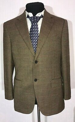 Lux Suitsupply Mens Blazer 100% Pure Wool Plaid Amazing Brown