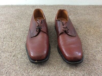 Vintage Brown Leather Croc Mens Lace Up Cheltham Shoes UK 10 Made In England