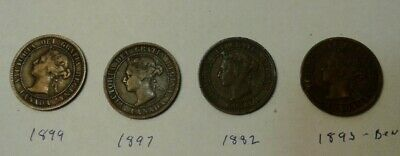 1899, 1897, 1882 & 1893 Canada cents,