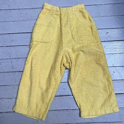 Vintage 1950s CATALINA Womens Yellow Cotton Terrycloth Cropped Pants XS
