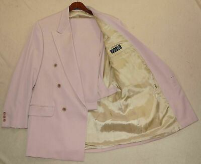 Vintage 40R 1980s Zeidler and Zeidler 2-Piece Suit - Men 40 Pink DB Suit