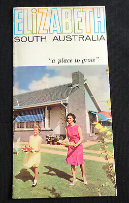 "1960s ELIZABETH SOUTH AUSTRALIA "" A PLACE TO GROW "" PROMOTION FOLD OUT PAMPHLET"