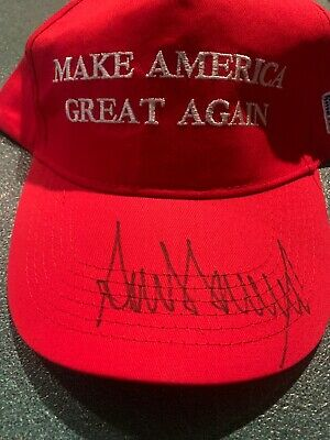 Donald Trump President Hand Signed Autographed Make America Great Hat COA