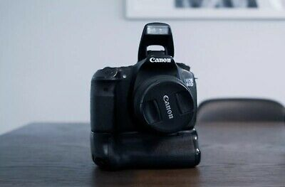 Canon EOS 60D 18.0MP Digital SLR Camera - Black - W/ Battery Grip & 18-55mm Lens