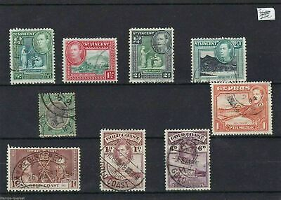 1940s COMMONWEALTH USED   VALUES   ON STOCK CARD  REF 1226