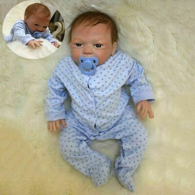 "20"" Reborn Dolls Full Body Realistic Lifelike Baby Boy Newborn Doll Xmas Gifts"