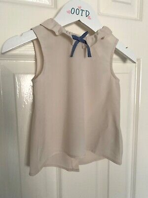 BNWT Baby girls NEXT stone colour blouse 9-12 months