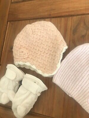 Baby Girls Hat & Gloves Bundle /set