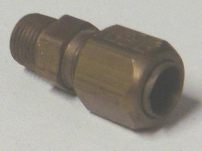 Air Water Pneumatic Tube Compression Male Stud 4mm x 1/16npt