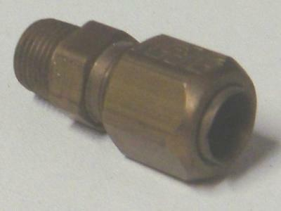 Air Water Pneumatic Tube Compression Male Stud 10mm x 1/4npt Pk1