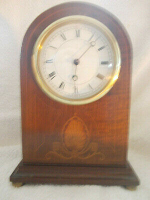 SMALL 8 inch,SOLID WOOD MANTEL CLOCK, SOLD AS SPARES OR REPAIRS