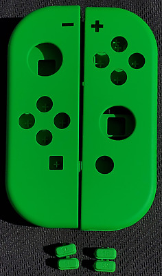 Genuine Nintendo Switch Neon Green Left + Right Joy Con Shells with Buttons!