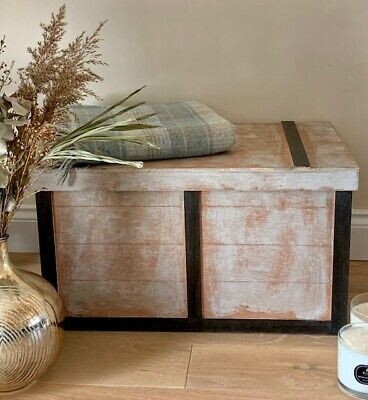 Hand made Wooden Storage trunk, Coffee table, Memory Box L 70 X H 42 X W 42cm