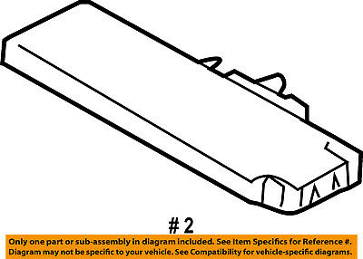 MERCEDES OEM 06-07 R500 Electrical-Fuse Box Cover 2515400482