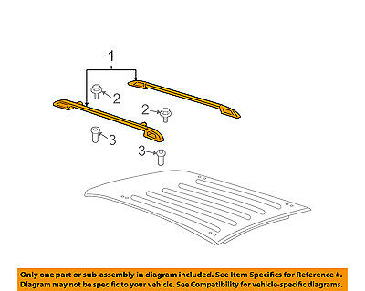 GM OEM Roof Rack Rail Luggage Carrier-Rear Cover Left 20983991