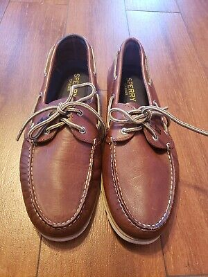 Sperry Top-Sider Men/'s Leeward 2-Eye Brown Buck Boat Shoes NWB
