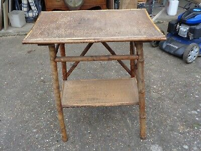 Vintage /  Antique Bamboo Table Rectangular