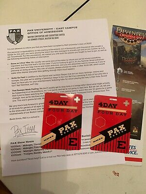 2x PAX East Boston 2020 4-Day Passes - Free Overnight Shipping