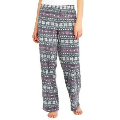 Secret Treasures Women Pajama Pants Size Large Fleece Sleep Lounge Fair Isle NWT