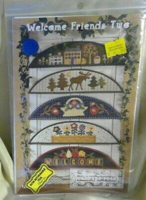 Cabage Rose-Welcome Friends Two-Quilting-New Uncut