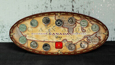 1999 Canada Twenty-five Cent Millennium Quarter Souvenir 12-Coin SET, Nickel