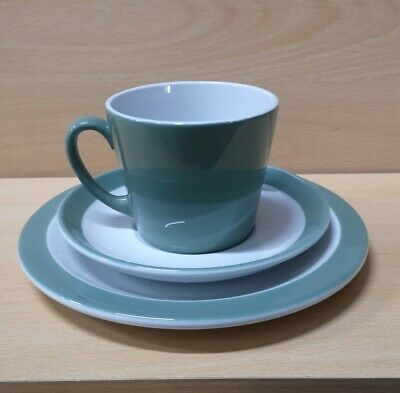 Woods Ware Beryl Green NHS Tea Cups And Plates