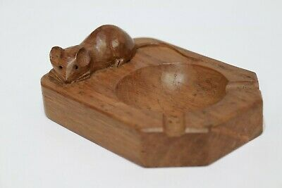 VINTAGE Wooden OAK 'MOUSE' Pin Dish-Robert Mouseman Thompson - 254