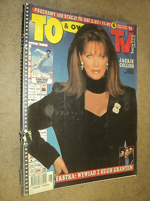 To & Owo 2000/06 (5/2) Jackie Collins Hugh Grant Ennio Morricone Sting C Dion