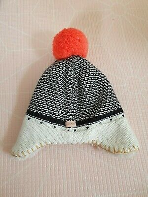 Catimini fur lined Bobble Hat 12-18  Months