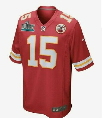 Nike Kansas City Chiefs Patrick Mahomes Super Bowl 54 LIV Patch Jersey kc red XL