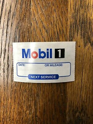 Mobil 1  Oil change reminder windshield cling stickers (15 for $2.99)