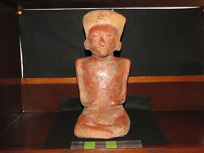 *Pre Columbian, Pottery, West Mexican, Colima, Choice Sitting Figure, E/F L/P/C