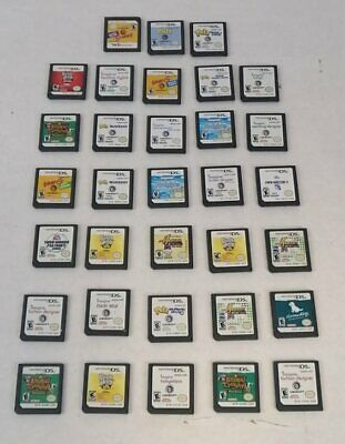 Lot of 33 Various Nintendo DS Games