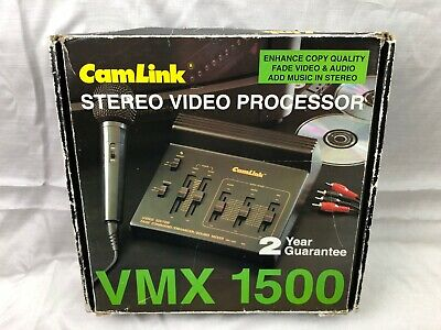 CamLink VMX 1500 Stereo Video Processor with Original Box and Manuals