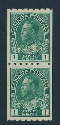 Canada 1913 Mint Nh Vertical Pair #123, Admiral Coil Stamps !! Bf71