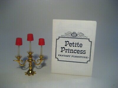 Vintage Dollhouse Furniture Ideal Petite Princess Royal Candelabra Catalog Euc