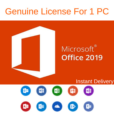 Microsoft Office 2019 Professional Plus Key Code windows 10 Instant Delivery